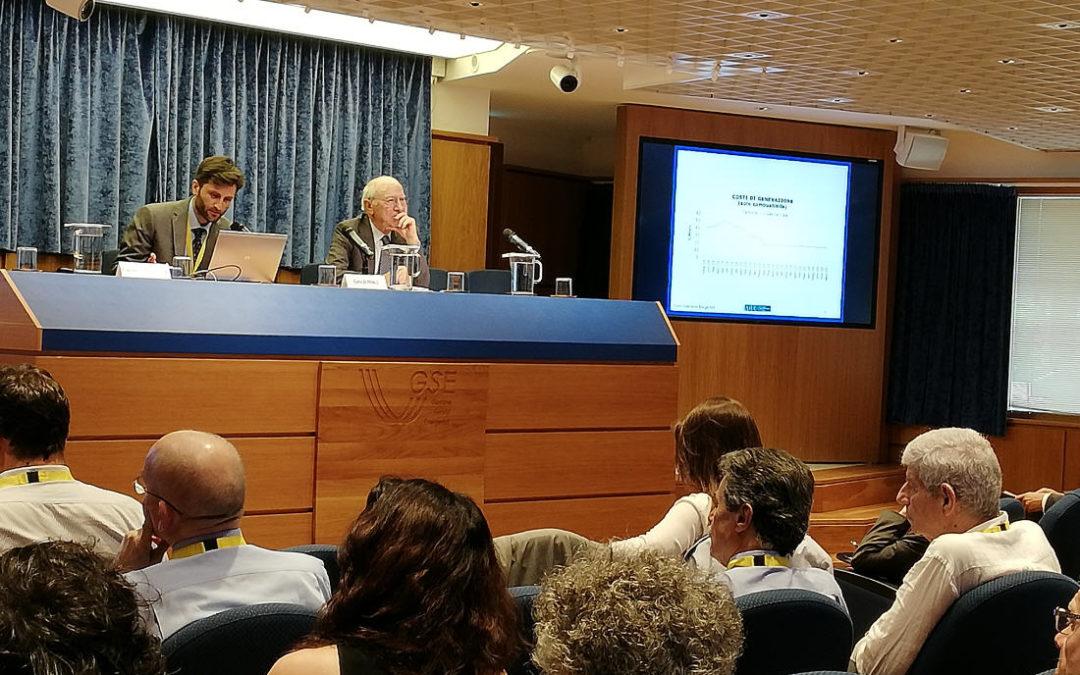 """Roma, 9 luglio 2019 – Presentazione dello Studio AIEE """"L'integrazione delle fonti rinnovabili non programmabili, nel sistema elettrico italiano"""""""