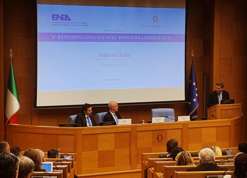 Presentazione 8° Rapporto annuale sull'eficienza energetica dell'Enea
