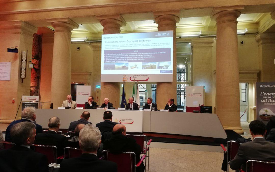 """Presentazione del 3° Rapporto Federmanager-AIEE: """"Transizione verde e sviluppo: Può l'economia circolare contribuire al rilancio del sistema Italia?"""""""