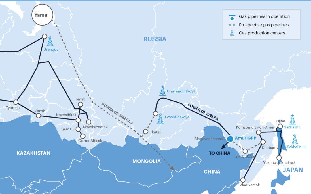 La Gazprom approva lo studio di fattibilità sul gasdotto Power of Siberia 2